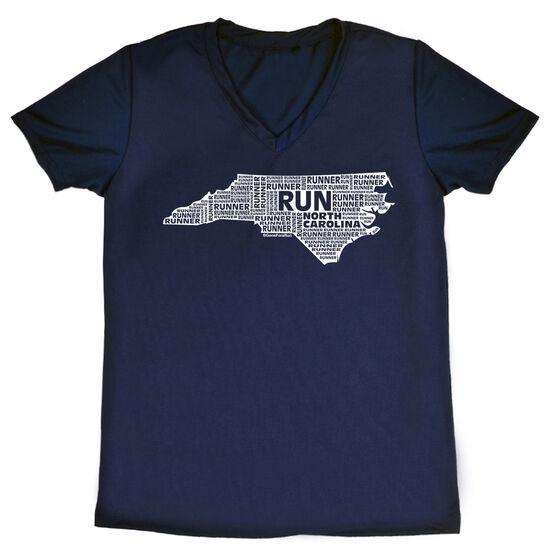 Women's Running Short Sleeve Tech Tee North Carolina State Runner