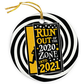 Running Porcelain Ornament - Run Out Of The 2020 Zone Into 2021