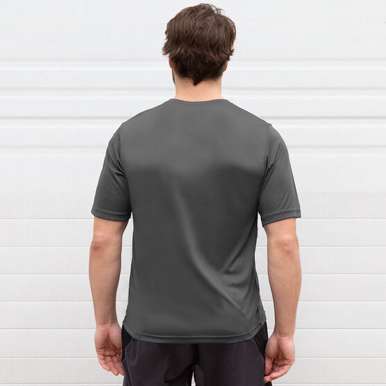Men's Running Short Sleeve Tech Tee - I Run To Burn Off The Crazy