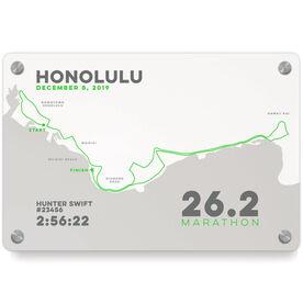 Running Metal Wall Art Panel - Honolulu 26.2 Route