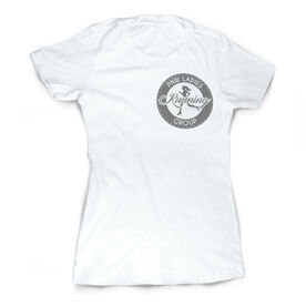 Vintage Running Fitted T-Shirt - Pacific Northwest Ladies Running Group Logo (Black)