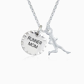 Livia Collection Scalloped Runner Mom Silhouette Necklace