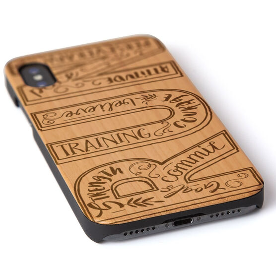 Running Engraved Wood IPhone® Case - Run With Inspiration