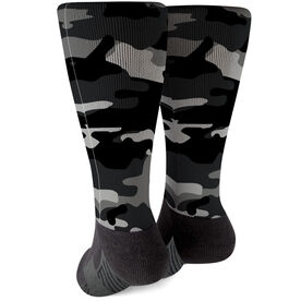 Printed Mid-Calf Socks - Camouflage