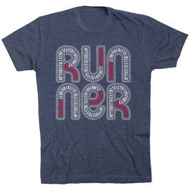 Running Short Sleeve T-Shirt - Sagittarius Zodiac Runner