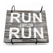 BibFOLIO® Race Bib Album - Run Your Name Run Rustic