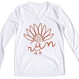 Women's Running Long Sleeve Tech Tee - Turkey Run