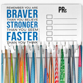 Running Large Hooked on Medals Hanger - Dry Erase PRs