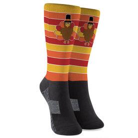 Running Printed Mid-Calf Socks - Run Now Gobble Later