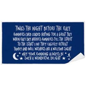 Running Premium Beach Towel - Twas The Night Before The Race (Simple)