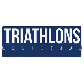 Triathlon Hooked on Medals Hanger - Triathlons