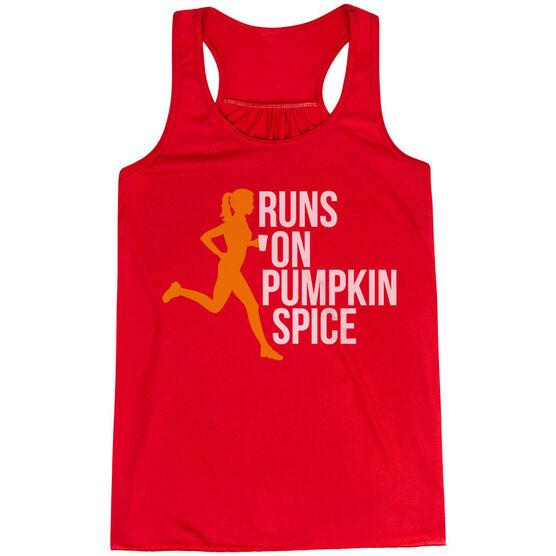 Flowy Racerback Tank Top - Runs On Pumpkin Spice