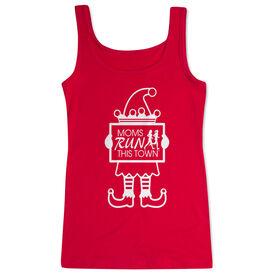 Running Women's Athletic Tank Top - Moms Run This Town Elf