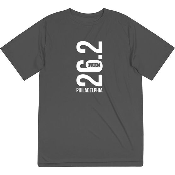 Men's Running Short Sleeve Tech Tee - Philadelphia 26.2 Vertical