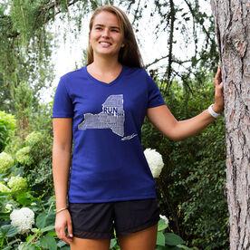 Women's Running Short Sleeve Tech Tee New York State Runner