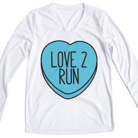 Women's Running Long Sleeve Tech Tee Love 2 Run Candy