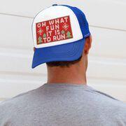 Running Trucker Hat - Oh What Fun It Is To Run