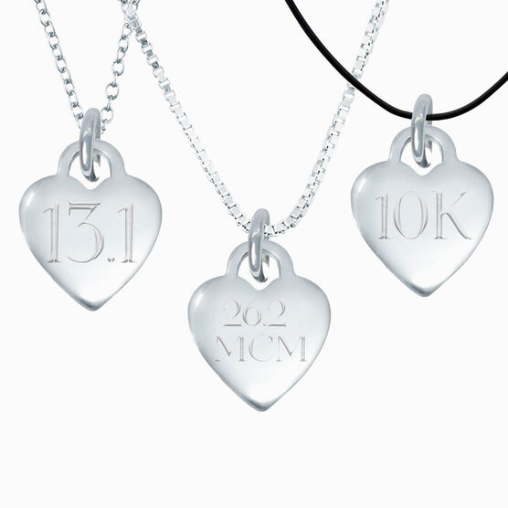 Sterling Silver Custom Engraved Heart Necklace