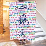 Triathlon Premium Blanket - Swim Bike Run Repeat Girls