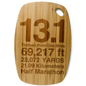 Rectangle Laser Engraved Bamboo Cutting Board 13.1 Math Miles