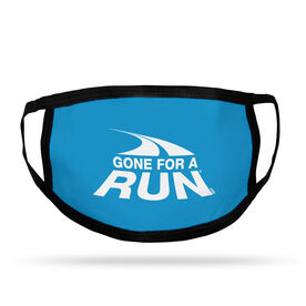 Running Adult Face Mask - Gone For A Run Logo