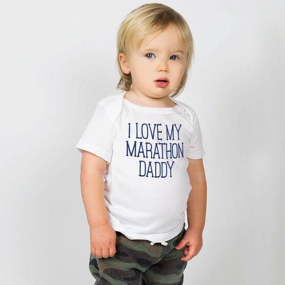 Running Baby T-Shirt - I Love My Marathon Daddy