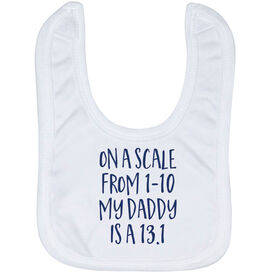 Running Baby Bib - My Daddy Is A 13.1