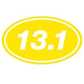 13.1 Oval Running Vinyl Decal