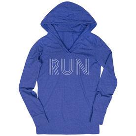 Women's Running Lightweight Performance Hoodie - Run Lines