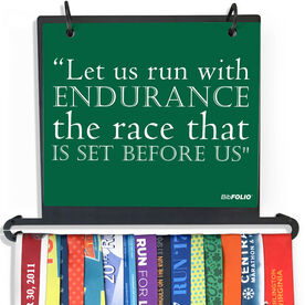 BibFOLIO Plus Race Bib and Medal Display Let Us Run With Endurance - Artist Style