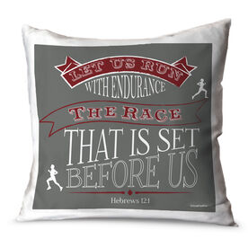 Running Throw Pillow Vintage Let Us Run