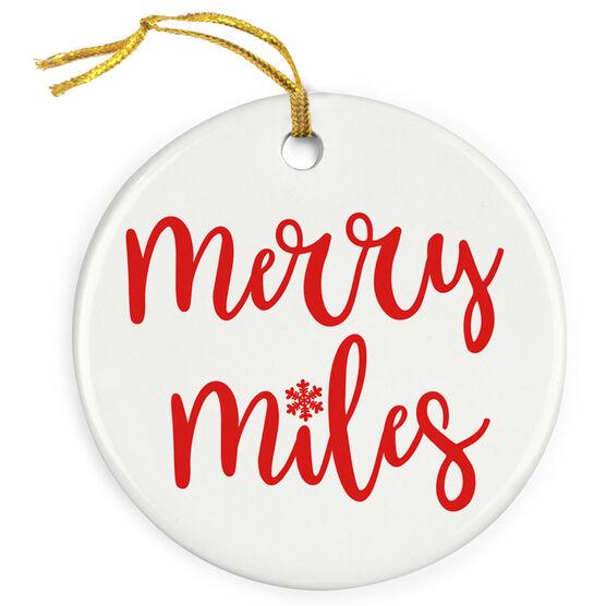 Running Porcelain Ornament - Merry Miles (Script)