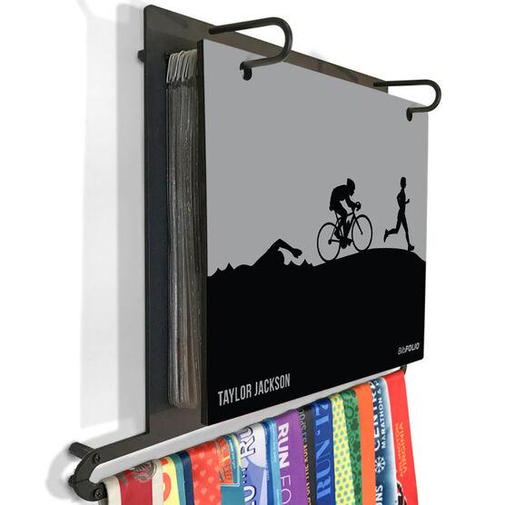 BibFOLIO+™ Race Bib and Medal Display Triathlon