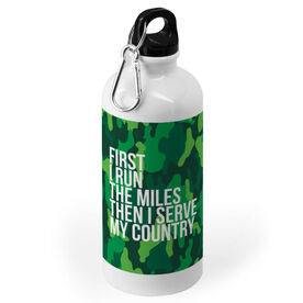 Running 20 oz. Stainless Steel Water Bottle - Then I Serve My Country