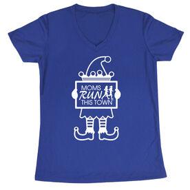 Women's Running Short Sleeve Tech Tee - Moms Run This Town Elf