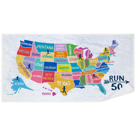 Running Premium Beach Towel - Run 50