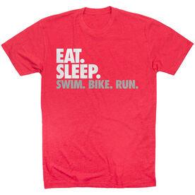 Triathlon Short Sleeve T-Shirt - Eat. Sleep. Swim. Bike. Run.
