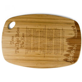 Rectangle Laser Engraved Bamboo Cutting Board Twas The Night Before The Race