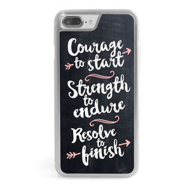 Running iPhone® Case - Chalkboard Courage To Start