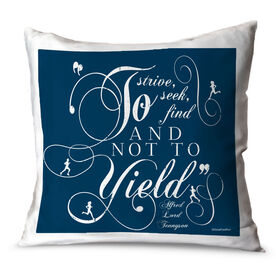 Running Throw Pillow Vintage To Strive To Seek To Find