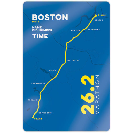 "Running 18"" X 12"" Wall Art - Personalized Boston Map"