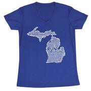 Women's Running Short Sleeve Tech Tee Michigan State Runner