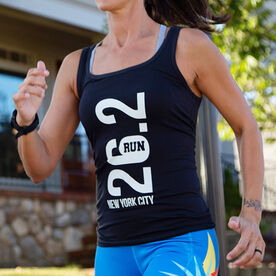 Running Women's Athletic Tank Top - New York City 26.2 Vertical