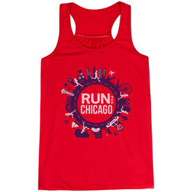 Flowy Racerback Tank Top - Run For Chicago