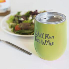 Running Stainless Steel Wine Tumbler - Will Run For Wine