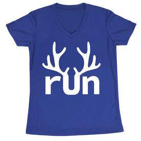 Women's Short Sleeve Tech Tee - Reindeer Run