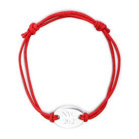Sterling Silver Cord Bracelet NYC 26.2