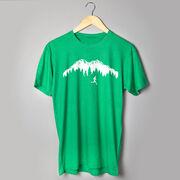 Running Short Sleeve T-Shirt - Trail Runner in the Mountains
