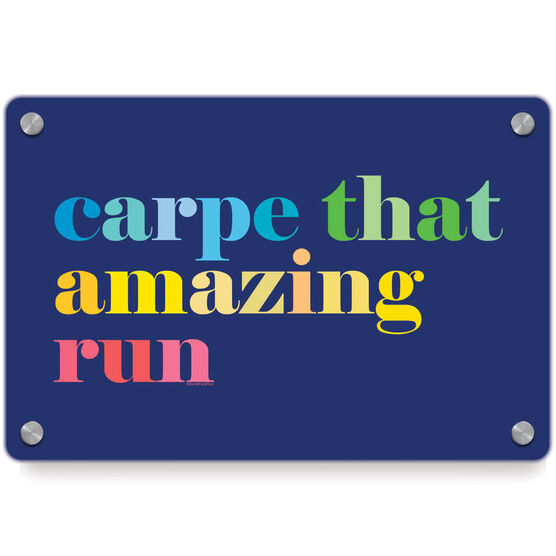 Running Metal Wall Art Panel - Carpe That Amazing Run