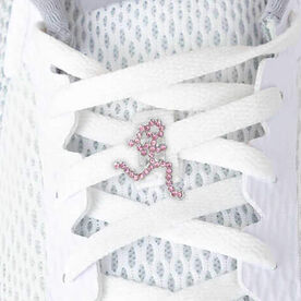 LaceBLING Shoelace Charm - Run Girl (Pink)